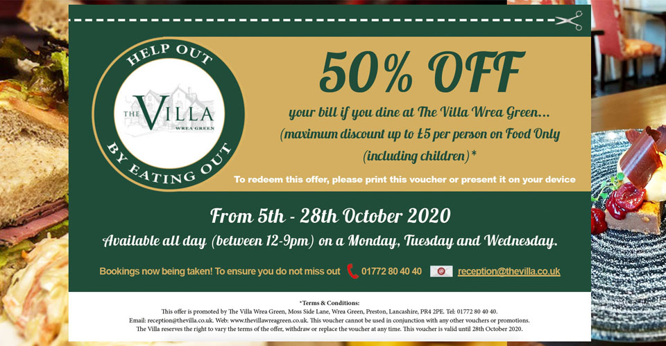 50% off eat out to help out in preston lancashire