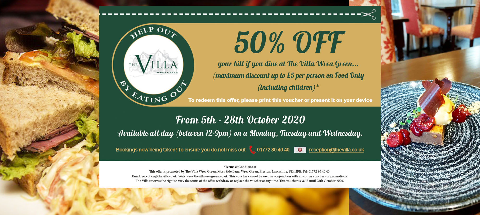 50% off eat to help out october preston lancashire offer